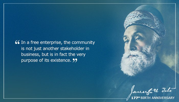 Today is the 177th birth anniversary of our Founder Jamsetji Tata. Join us in celebrating his legacy! #JNTata https://t.co/7GzBTwbhLb