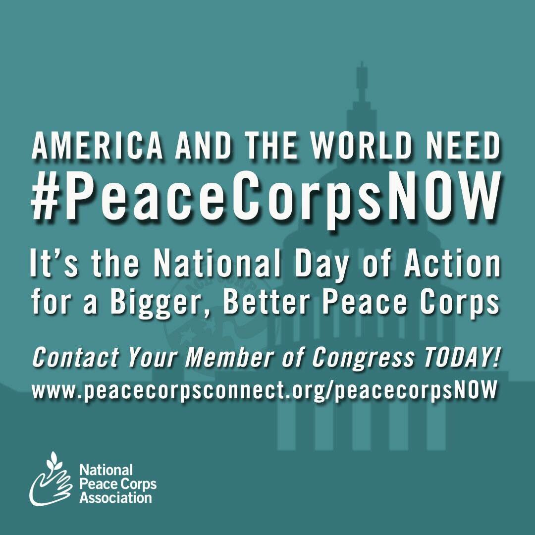 Today, we need YOU to take action and spread the word! https://t.co/8hKtfMdyfD #PeaceCorpsNOW #peacecorps https://t.co/HduhbnFTyp