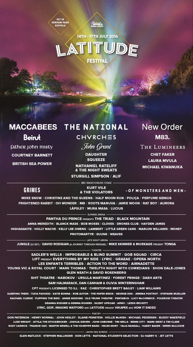 We welcome to #Latitude16...   Many more acts to be announced across all stages.  ➡ https://t.co/0bDVdeHSkA https://t.co/lqxbxKB8yO