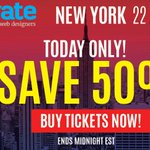 The #generateconf NYC flash sale is now on! 50% off but hurry, only 50 tickets available! https://t.co/xZByVaBdui https://t.co/kPaeOSVxZL