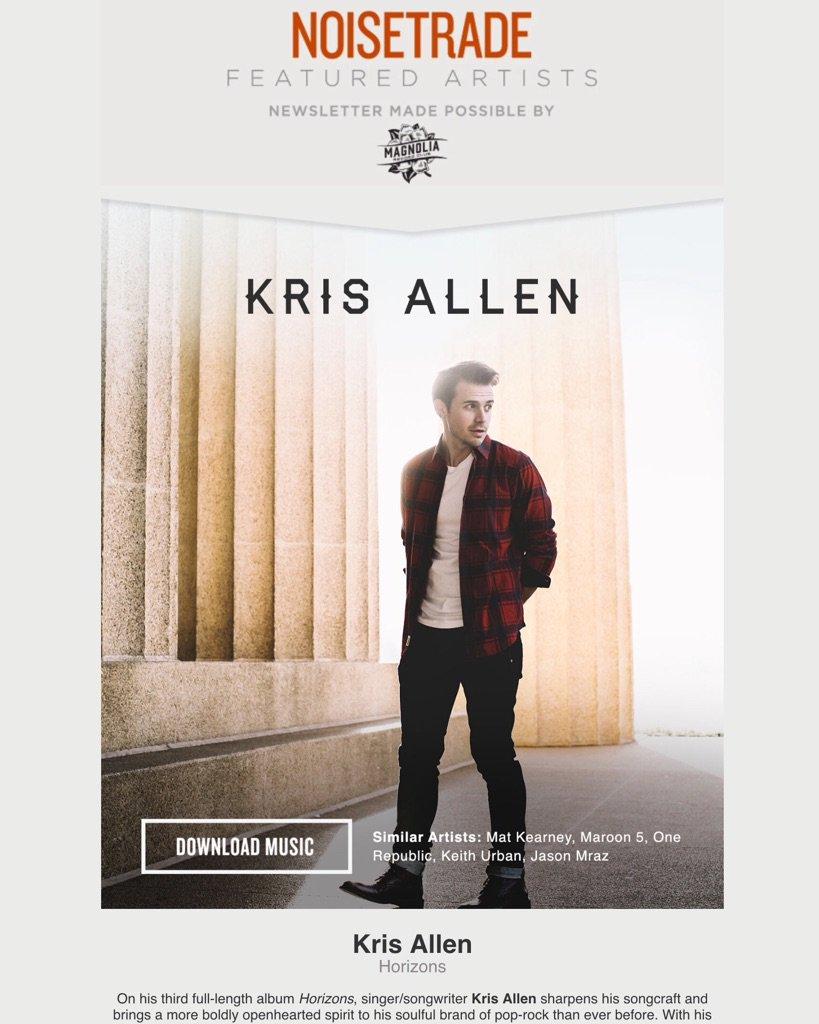 Share today's @noisetrade featured artist - great way to get folks hooked on @krisallen! https://t.co/0XXNDvVlro https://t.co/zpr5z3356c
