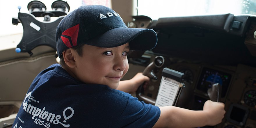Delta is proud to partner with @CMNHospitals to fly pediatric Champions to Momentum16.