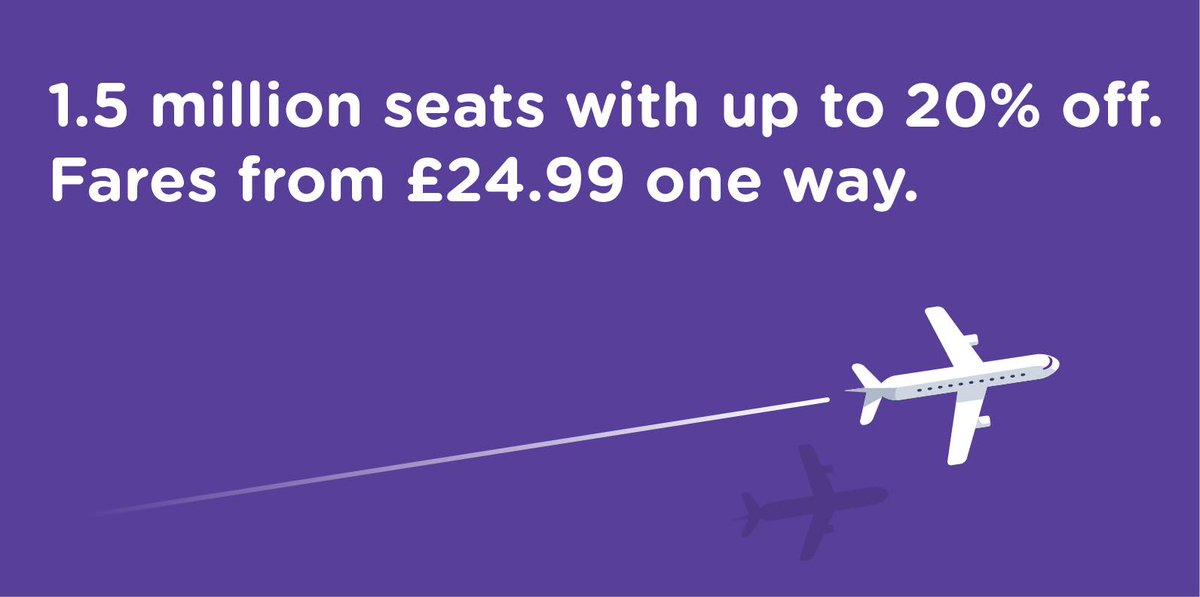 FLYBE SUPER SIZE SPRING SALE! Book by 8/3, travel 12/04 - 19/10. T&C's apply: