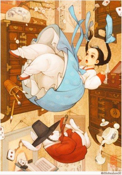 アリスも可愛いのだけれど、注目すべきはシロウサギですね。何だろう、このハイセンス…… https://t.co/0mRt1iQeYm