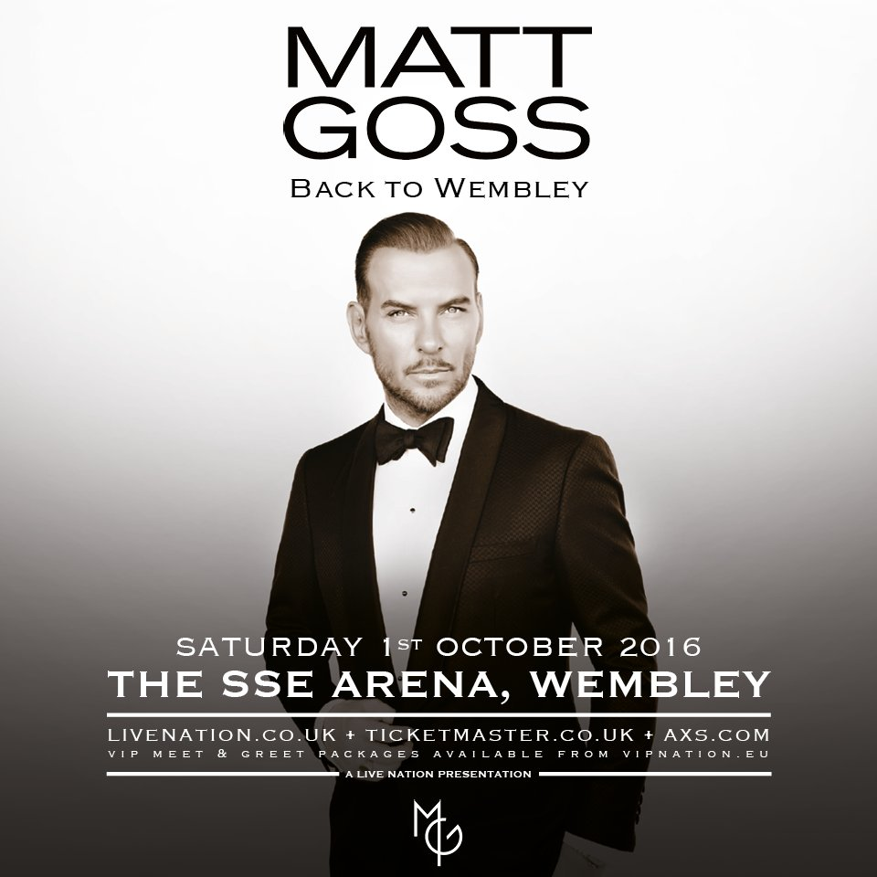 We're bringing @mattgoss back to Wembley celebrating 30 years in the biz, all the big songs + all the Vegas glitz https://t.co/kBoRMlfZ9V