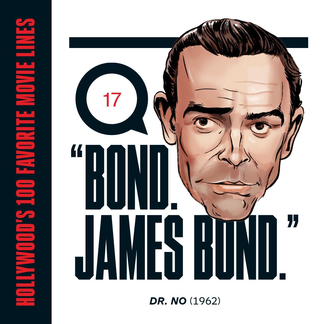 Hollywood's favorite movie quotes: How Ian Fleming came up with the name