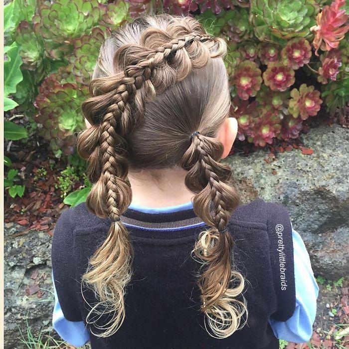 母と娘の共作アート メルボルンのお母さん、シェリー・ギルフォードさんが毎朝登校前に娘のグレースちゃんの髪に施している複雑かつ芸術的な髪結い https://t.co/PAQDYt8mzl https://t.co/IijoJxQyA3