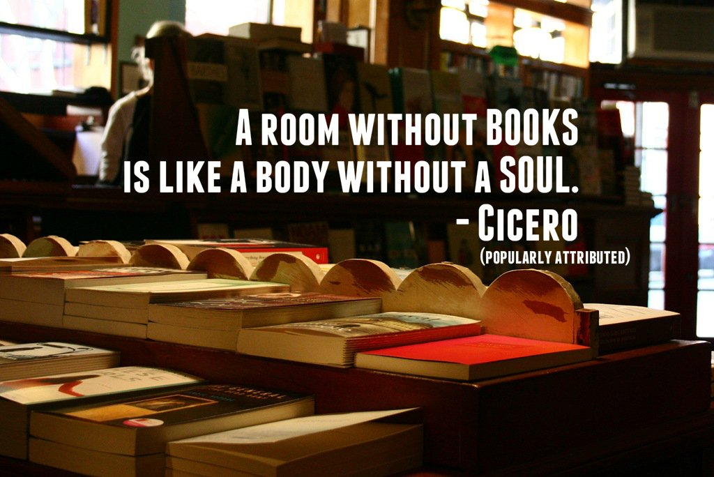 """A room without books is like a body without a soul."" - Cicero (popularly attributed) #WorldBookDay https://t.co/SiZcma0gpQ"