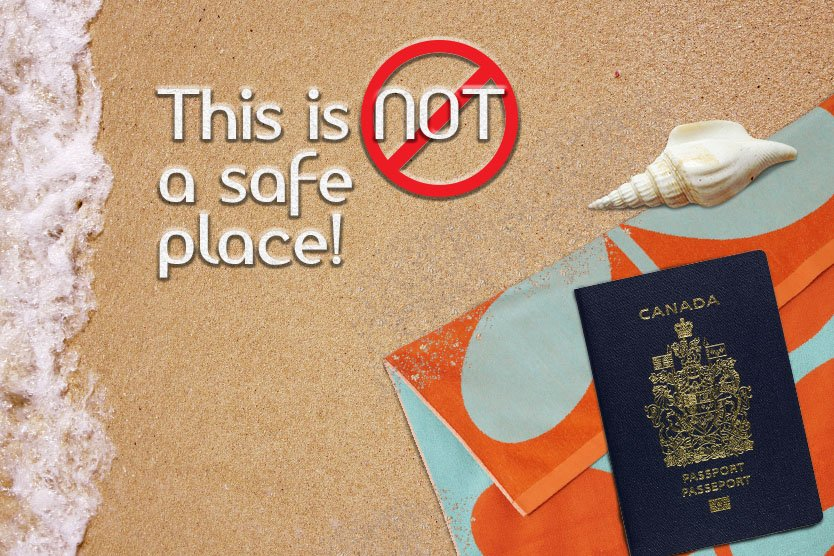 RT @PassportCan: Warming yourself on the beach this winter? Keep your passport safe!