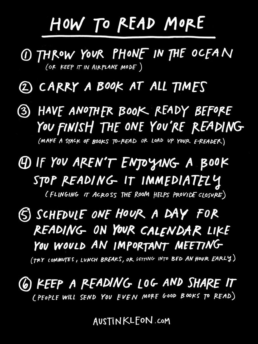 How to read more. #WorldBookDay https://t.co/FdGOuiCxbZ
