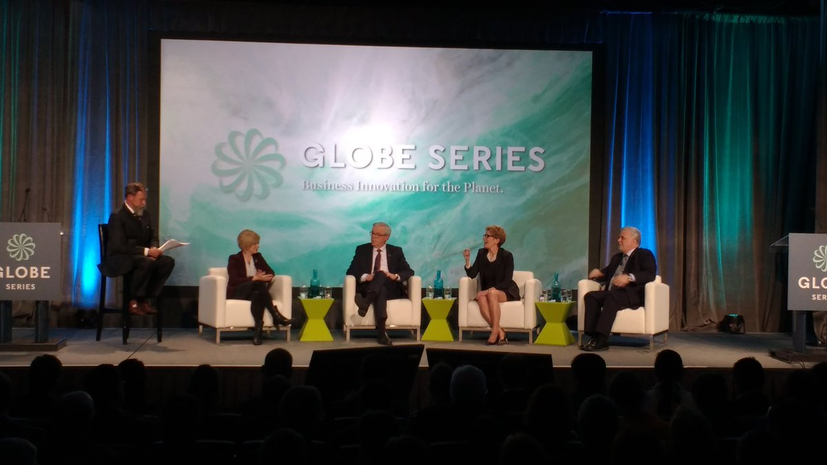 Premiers Panel on Sustainability at #GLOBE2016 discussing stimulating the economy w green jobs #cdnpoli https://t.co/7PBTE3SLbl