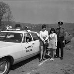 Heres a @SaanichPolice oldie for #ThrowbackThursday: At back of station, @SwanLakeNature in background #tbt #yyj https://t.co/ZF8hzIyjwn