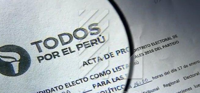 [URGENTE] Julio Guzmán: grave denuncia de firmas falsas en listas de Todos por el Perú https://t.co/DWOSV9I12l https://t.co/kxs4oybiw4
