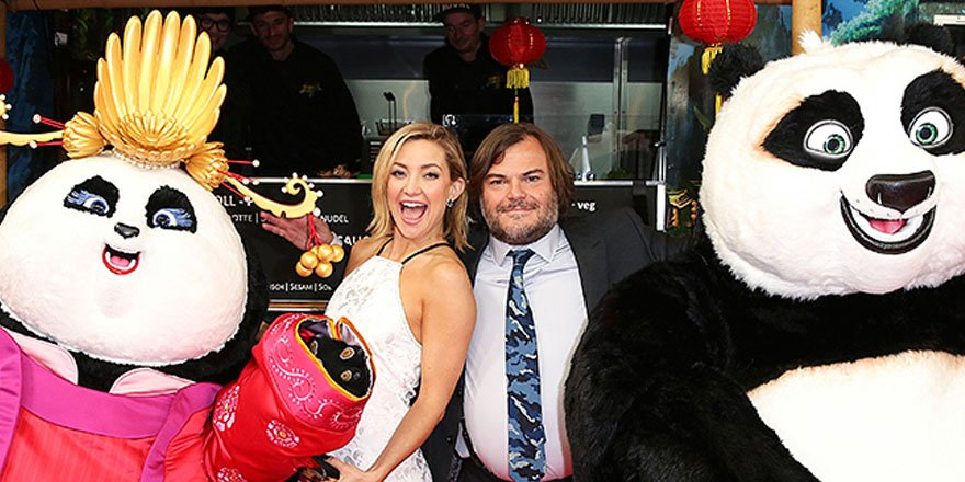 It's panda-monium as Jack Black and Kate Hudson attend the premiere of KungFuPanda 3
