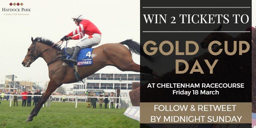#COMPETITION TIME! Follow and RT to be in with a chance to win 2 tickets to a sold out Gold Cup Day. https://t.co/kTaN3Tvm8h