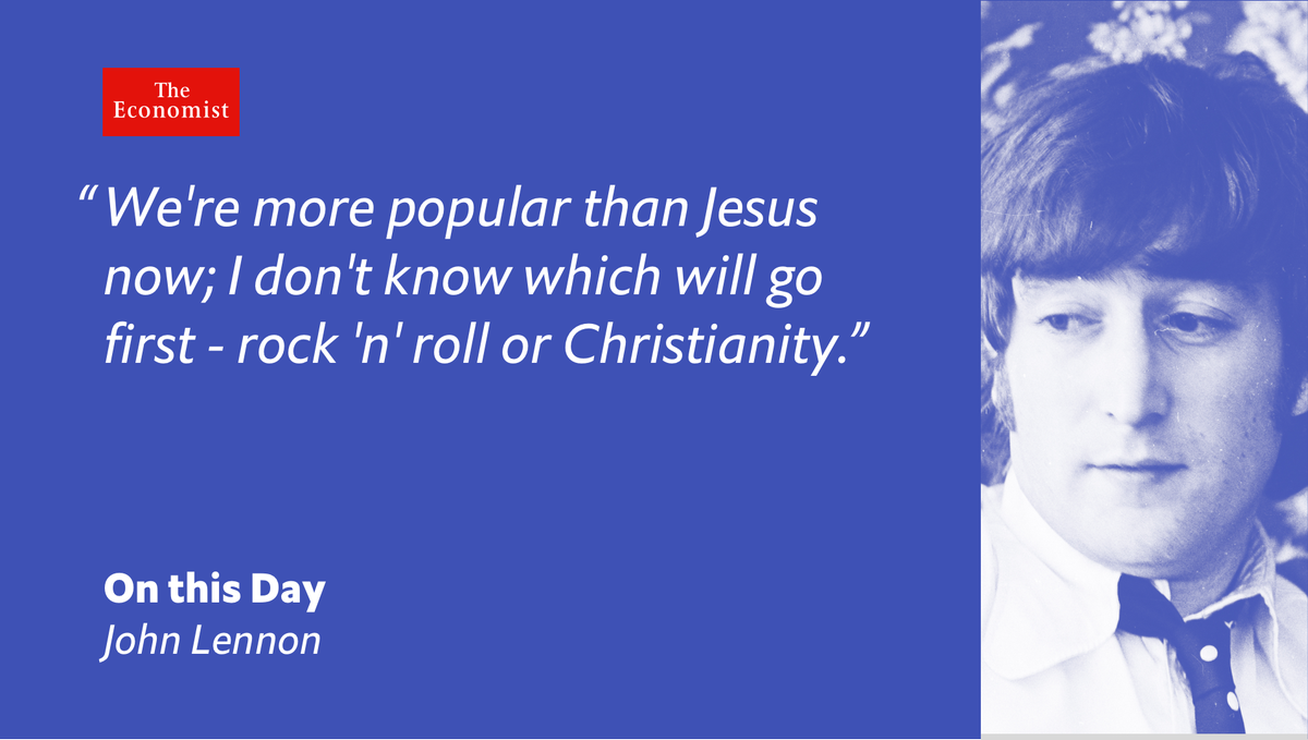 John Lennon, controversially, compared the The Beatles to Jesus onthisday 1966