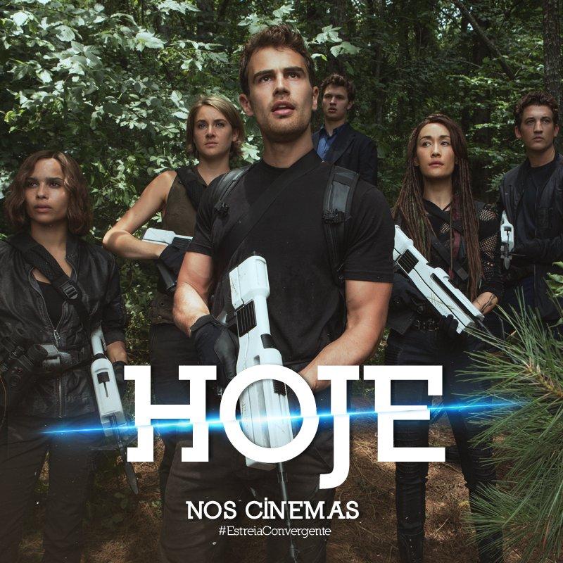 A aventura mais épica dos Divergentes estreia HOJE nos cinemas! Enfrente o desconhecido em #Convergente. https://t.co/fUj29H8Rr4