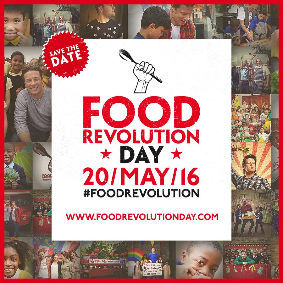 #FoodRevolution Day's all about sharing the power of cooking. Sign up & join in https://t.co/42taWIc2Zy https://t.co/4Kfg4CfdZT