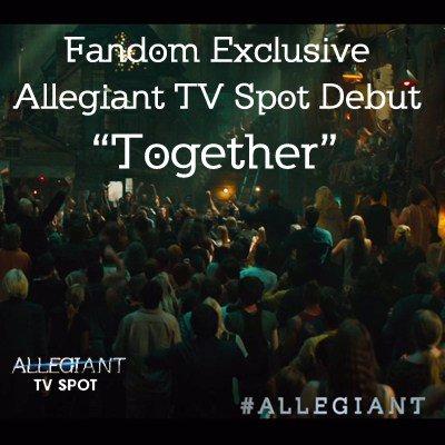 #ALLEGIANT TV Spot Debut –Together https://t.co/8qRJ6mwvWl https://t.co/KBBy9LRJUM