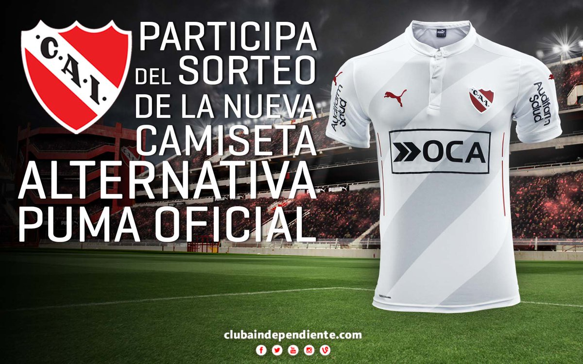 Dale RT y participa del sorteo de la nueva camiseta alternativa diseñada por @PUMAArgentina. Sorteamos el miércoles. https://t.co/2aB1hWjysj