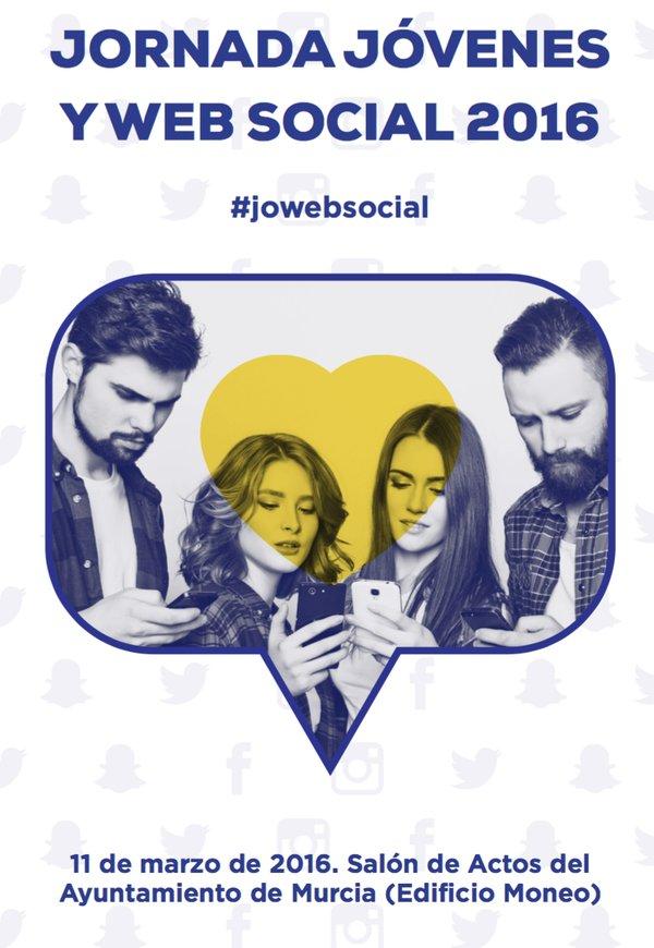 "Jornada ""JÓVENES y WEB SOCIAL"" #jowebsocial 11/3/2016 #Murcia #juventud #redessociales #tic https://t.co/bzWaG4Pjk6 https://t.co/usz4u2MPm5"