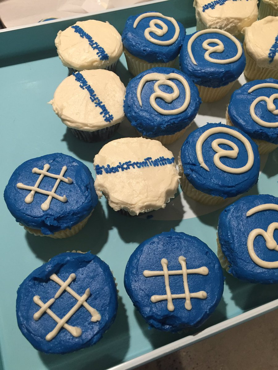 Ummmm hi, love these #WorkFromTwitter cupcakes.