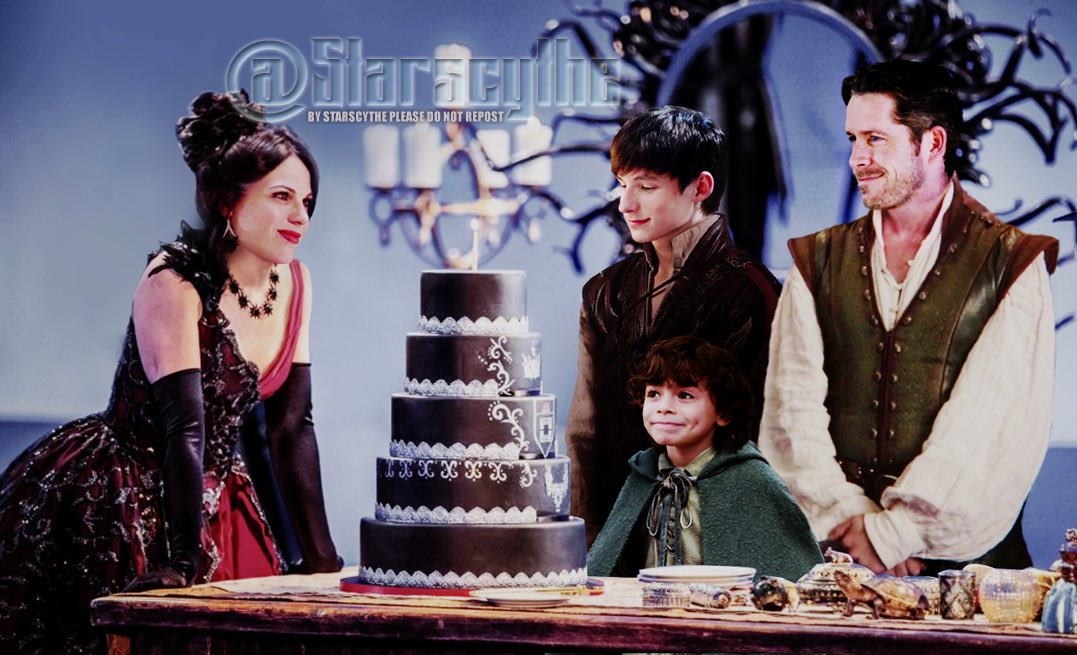 The Queen's Birthday #OutlawQueenFamily style. #FanArt #OnceUponATime https://t.co/9l92wPqAgR