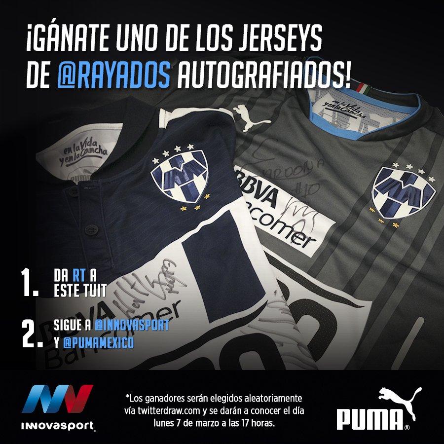 #RAYADOS ⚽  ¡Da RT y participa por uno de los 2 jerseys @PUMAmexico autografiados! https://t.co/ckJ5lr4Iwr