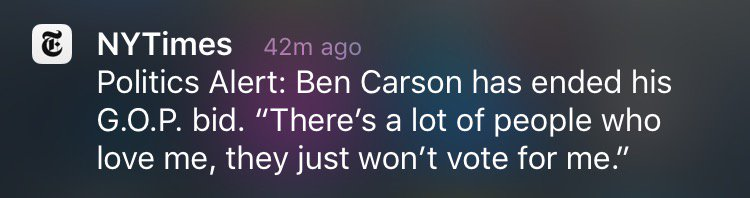 Ah, Ben Carson. He died as he lived: on another planet. https://t.co/wvgwaAo14F
