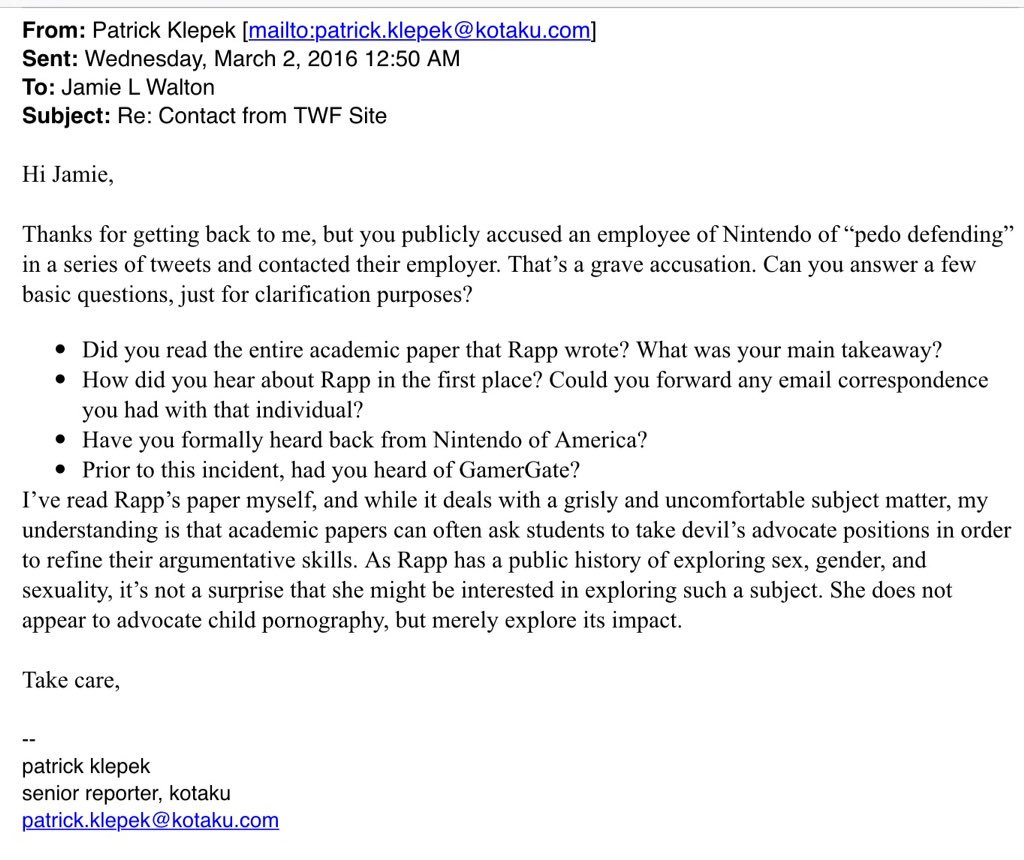 And then @patrickklepek you sent this response which I ignored, as I already stated I wasn't interested. https://t.co/eEeGmBWW9C