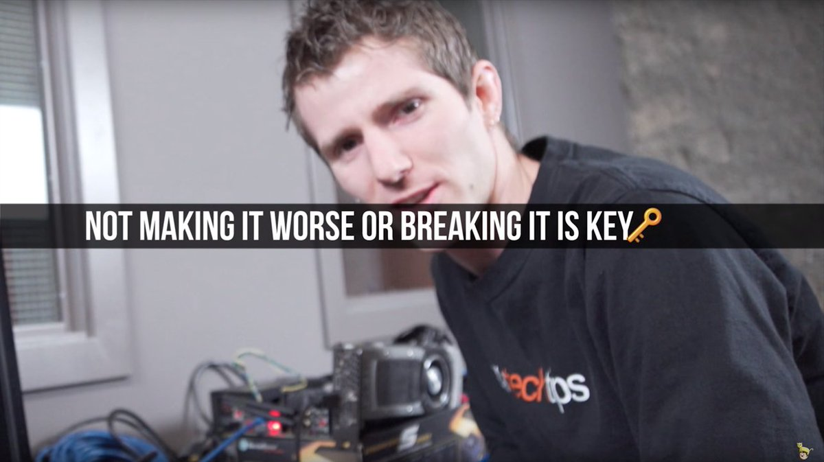 Very sage wisdom from @LinusTech. I want this as a motivational poster. https://t.co/h46tiOGgVg
