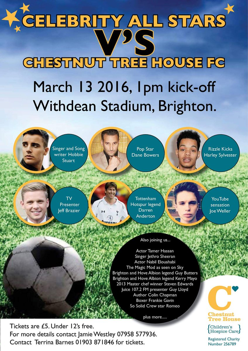 Thank you @joe_weller_ for tweeting about  our celebrity football match and for playing https://t.co/L8Au59Ffvt