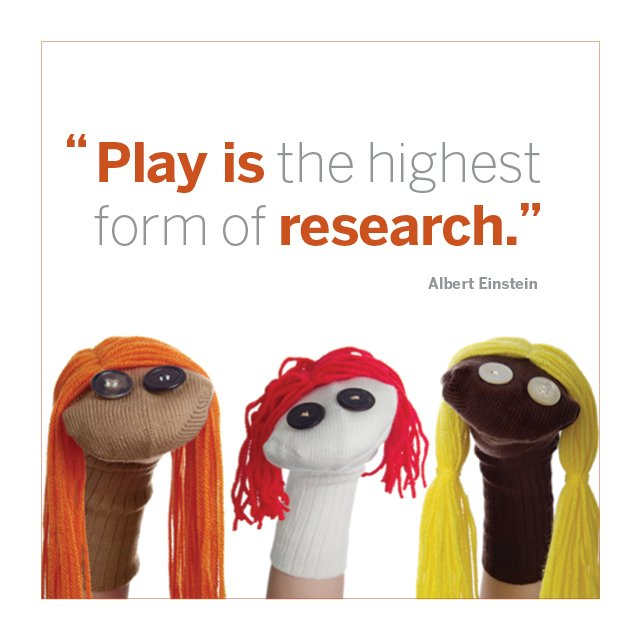"A wise man (Albert Einstein!) once said, ""Play is the highest form of research."" #truth #ECEchat https://t.co/i4qxxEBqzA"