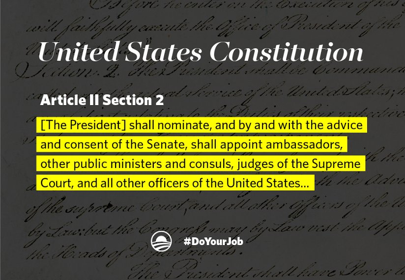 No excuses—the Senate has never taken more than 125 days to vote on a successor. Tell the Senate: #DoYourJob. https://t.co/vKeMZk6aqr