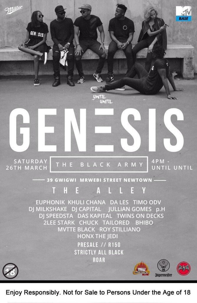Your ticket to @untiluntil_za #GenesisAllBlack lies in the power of your retweets. RT this tweet to win. Let's go! https://t.co/UXpBhiO4Js