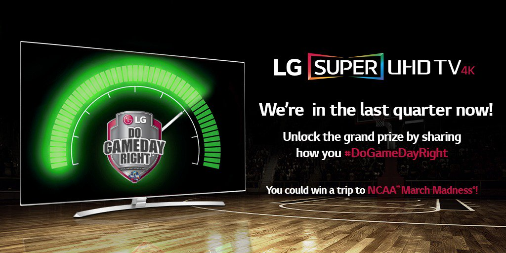 1 quarter left! Retweet and tell us how you #DoGameDayRight. You could win a trip to the Final Four®! @MarchMadness https://t.co/VeOasnMy8V