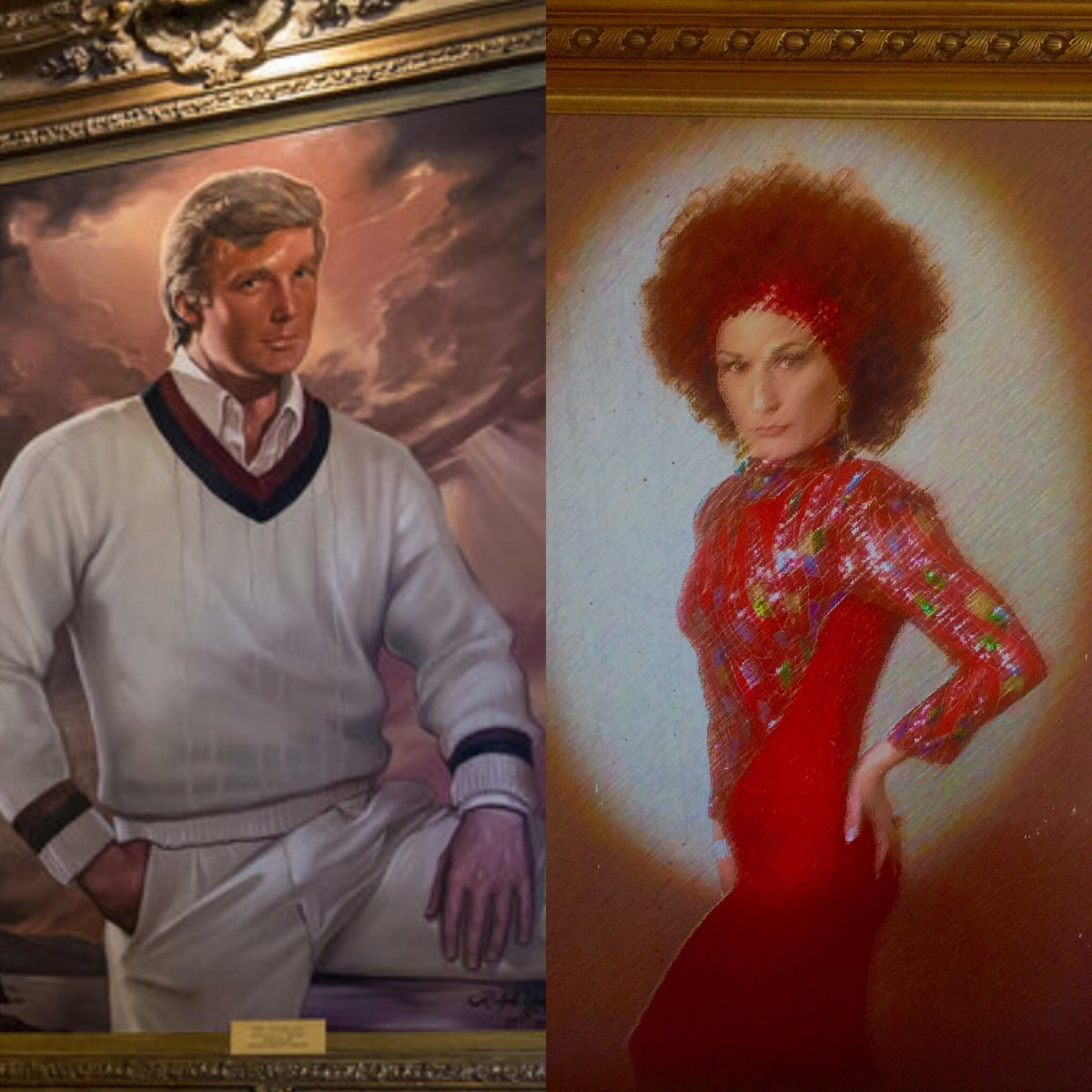 Hired @realDonaldTrump's  portrait artist! Can't decide who he captured better. Heart for him, RT for me. https://t.co/yCTosq7DJF
