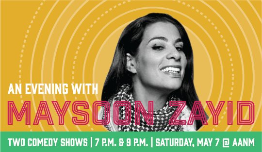 We can't wait to host @maysoonzayid in May! Get your tix now: https://t.co/RXRfTqltw8 #Dearborn #Comedy https://t.co/4nVGXeV0vp