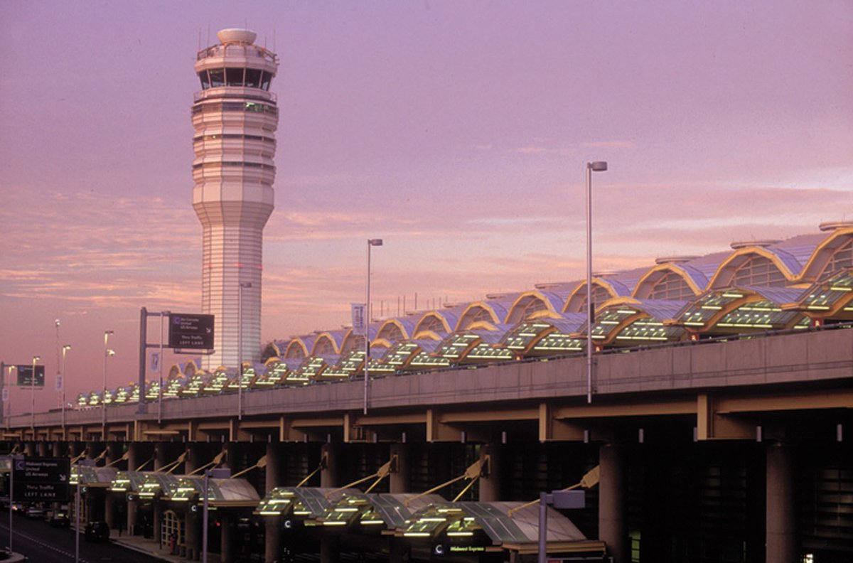 Reagan National going PINK for @CherryBlossFest