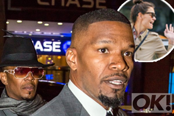 Katie Holmes is spotted with that engagement ring, but Jamie Foxx is still denying it: