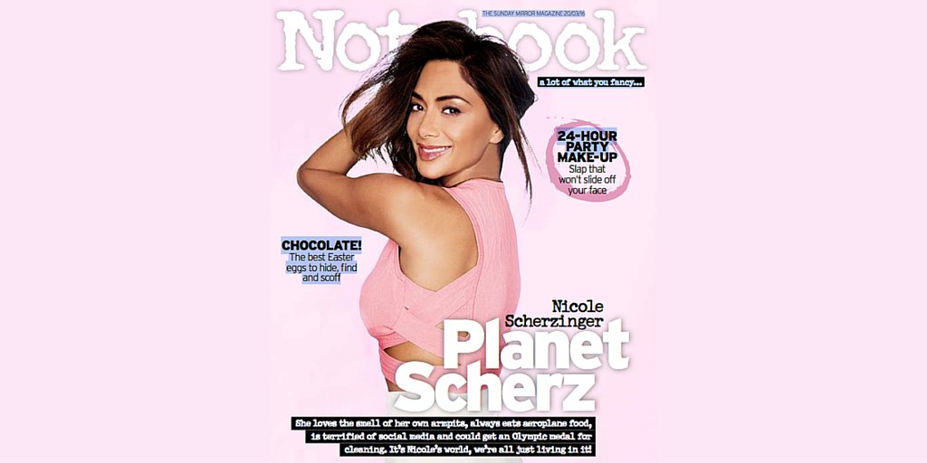 RT @notebooklive: Don't miss our chat with @NicoleScherzy in this week's issue FREE with The Sunday Mirror https://t.co/u6AH4yJflV