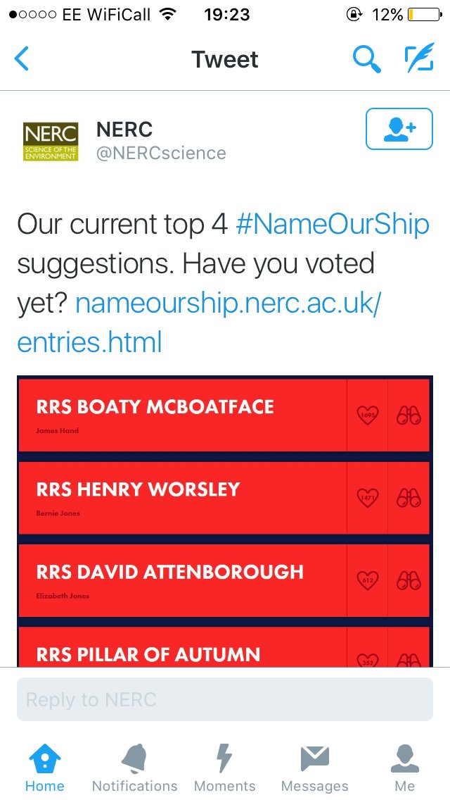 Still not stopped laughing at Boaty McBoatface https://t.co/bojdAbnDsQ