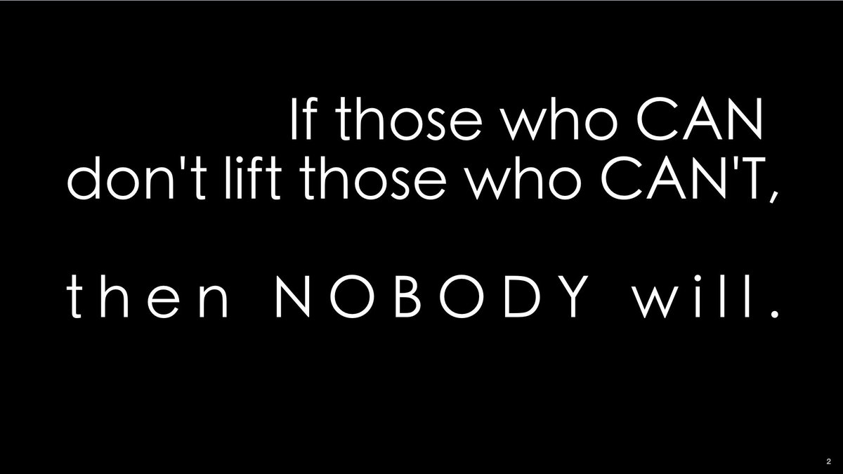 If those who CAN don't lift those who CANT, then NOBODY will. :( #MostImportantIssue #UCET16 https://t.co/I4BFmd0xcm