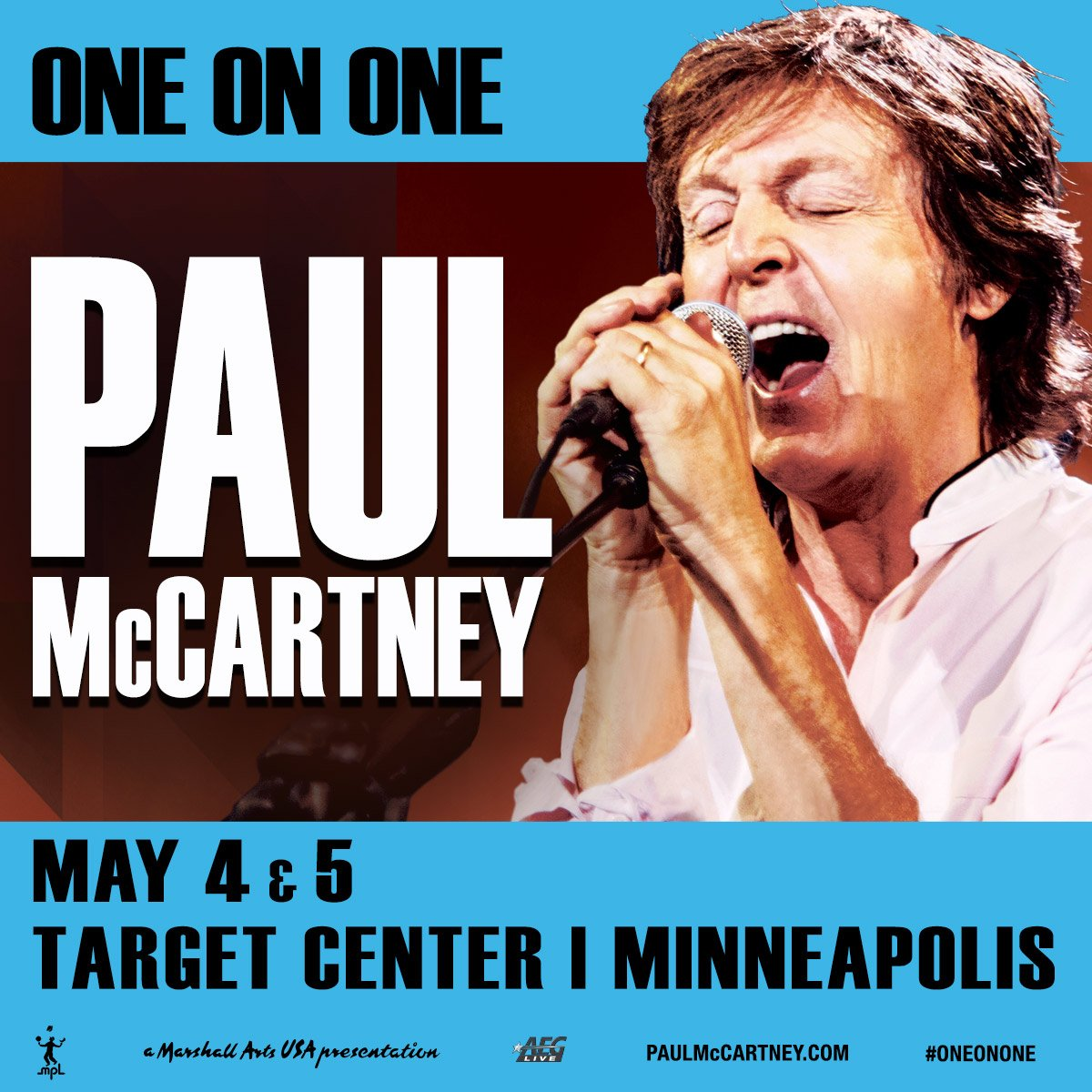 Sir Paul is coming to @TargetCenterMN May 4 & 5. RT for a chance to win two tix before they go on sale Monday @ 10. https://t.co/2jNHv8XhEh