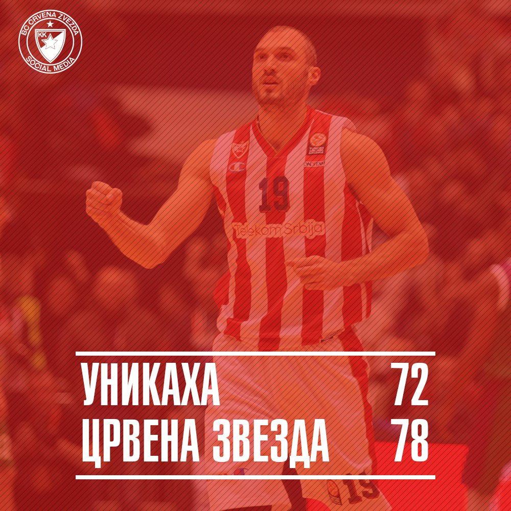 What a comeback in Malaga! One more victory needed for the @Euroleague TOP8 ! #UNICZT #Zvezdas #kkcz https://t.co/p1oYl0vhml