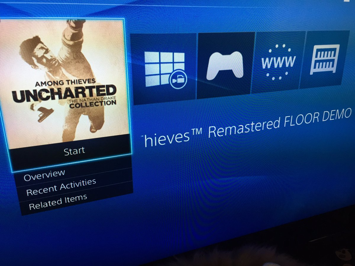 Psst... if you're looking at the game icons on my PS4, that was a floor demo we created for UNDC