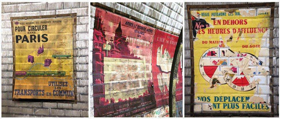 Décarrossage de la station #ratp Trinité: redécouvrir des affiches de la fin des années 50 https://t.co/OF2wPF4Oui https://t.co/TTtfYWWExO