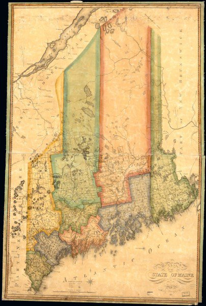 A cool map of Maine from before we'd decided where Maine ended and Canada began https://t.co/zBS2QCg2FC https://t.co/NMKLJOt9RM