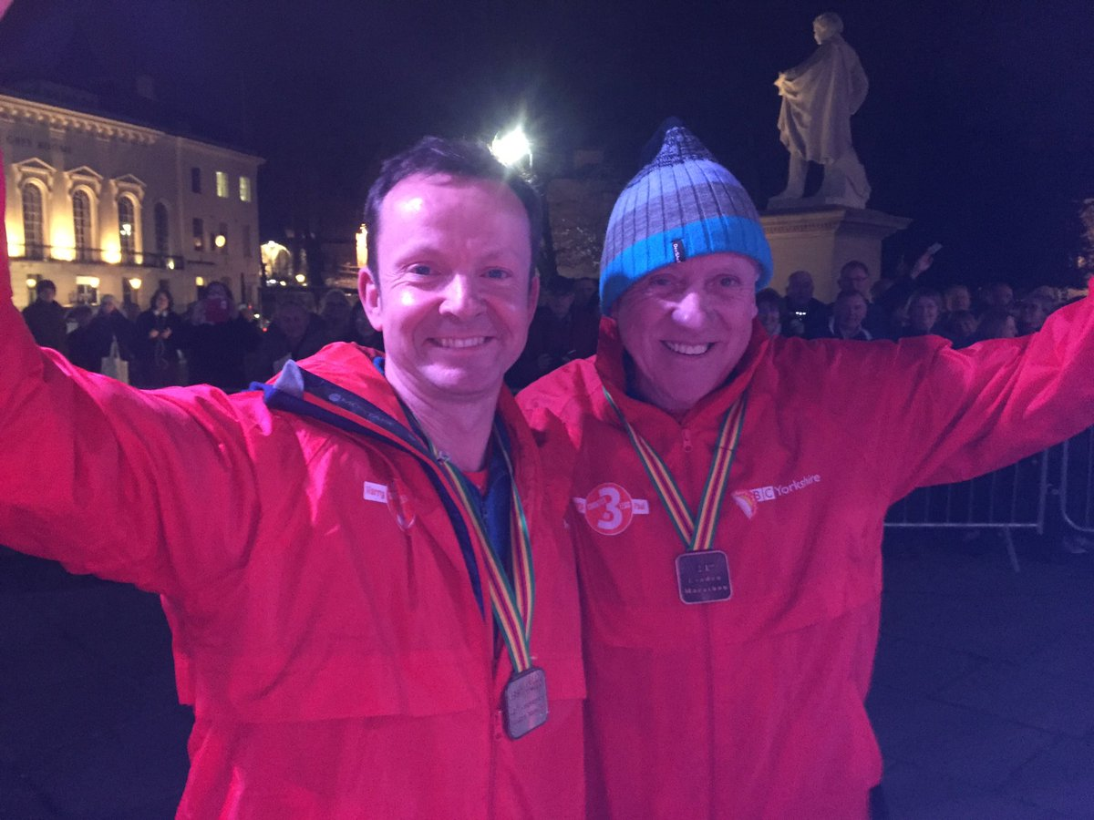 . @harrylooknorth @Hudsonweather finish their epic @BBC3Legs challenge for #SportRelief. £191,328 raised so far. https://t.co/05VDIykMDr