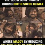 RT @Riyav31: This scene proved that no other heroes can replace @ActorMadhavan 's Mickey Mouse face https://t.co/tBH43YDdml